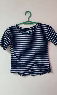Navy Blue Stripes Top
