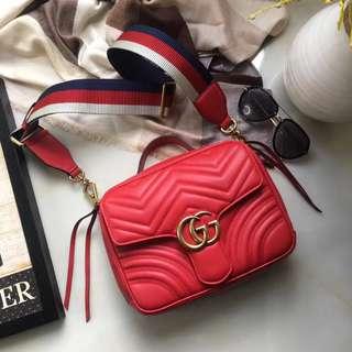 Gucci GG Marmont Stripe Shoulder Bag