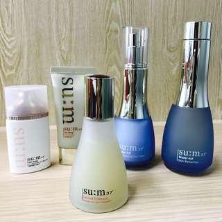SU:M 37 肌秘露&化妝水乳液&防曬乳CC霜