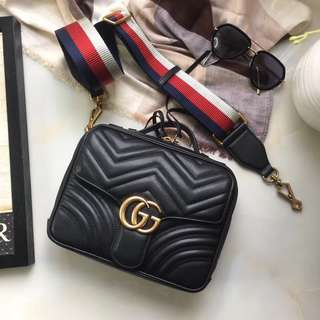 Gucci GG Marmont Stripe Shoulder Bag