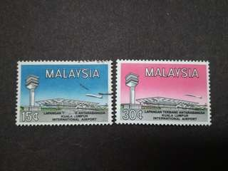 Malaysia 1965 International Airport Complete Set -2v Used & MNH Stamps
