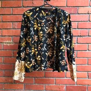 Black-brown batik jacket