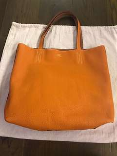 出血價Hermes double sence 24cm Gold /orange