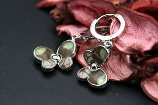 Navia Jewelry Real Butterfly Wing Graphium weiskei Silver Earrings Korea