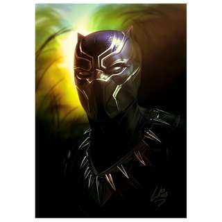 black panther abstract art prints