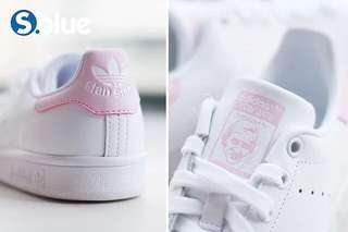 Real  ㊣ Adidas stan smith baby pink baby bule