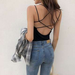 Cross halter top