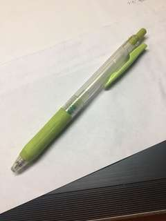 sarasa lime green pen 0.5