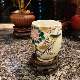 日本 手繪陶瓷茶杯~款(九谷司峰)