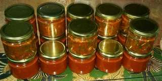 Freshly made chive kimchi & korean chili paste