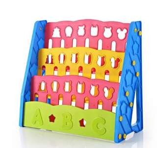 Colorful kids book rack