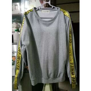 OFF WHITE GREY SWEATER (UNISEX)