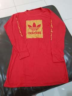 Adidas Sweater Dress Red