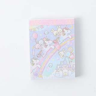 Pastel Unicorn memo / note pad