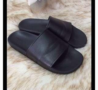Forever 21 Black Slides