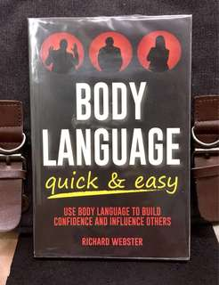 《New Book Condition + Words Can Be Lies , But Body Language Always Tells The Truth》Richard Wrbster - BODY LANGUAGE QUICK & EASY : Use Body Language to Build Confidence and Influence Others
