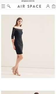 🚚 Air Space 黑色蕾絲小洋裝
