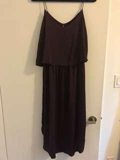 H&M Boutique purple chiffon dress
