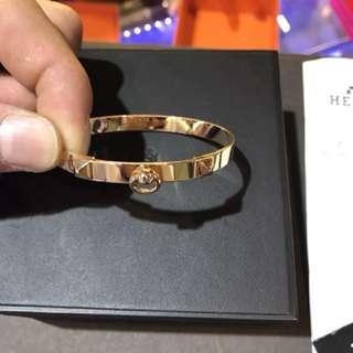 🚚 Hermès 18k玫瑰金CDC卯釘 手環 pm
