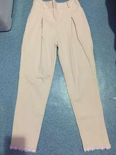 Cream chino pants