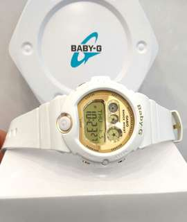 * FREE DELIVERY * Brand New 100% Authentic Casio BabyG White Gold Baby G Casual Watch Baby-G BG-6901-7DR