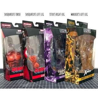 全新 未開封品 Marvel Legends BAF / Sasquatch - cable x-23 / Titus - angela / Warlock - cyclops
