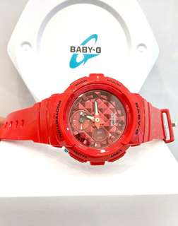 * FREE DELIVERY * Brand New 100% Authentic Casio BabyG Scarlet Red Baby G Casual Watch Baby-G BGA-195M-4ADR