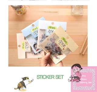 60pcs Planner Sticker Lovely Girl & Her Naughty Cats Pack