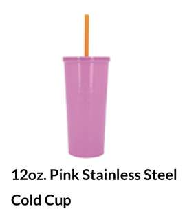 Starbucks Pink Pastel Stainless Steel Cold Cup Tumbler