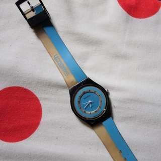 Vintage swatch watch blue