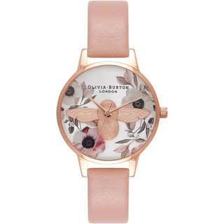 Olivia Burton Botanical 3D Dusty Pink and Rose Gold and Silver Watch OB16AM101 30mm