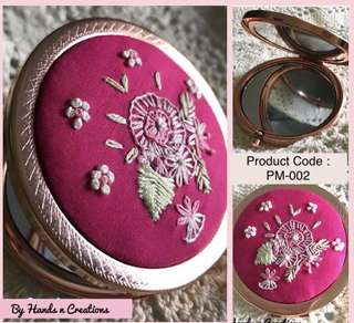 Compact Mirror Travel Mirror Pocket Mirror Embroidery Mirror