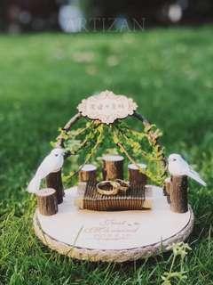 Wedding Ring Holder - Garden custom