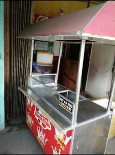 FOOD CART Stainless and aluminum push cart