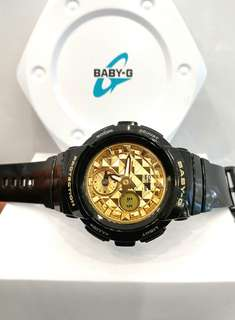 * FREE DELIVERY * Brand New Casio BabyG Black Gold Baby G Casual Watch Baby-G BGA-195M-1ADR