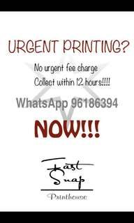 Urgent printing services