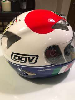 REPRICED - AGV TRI TECH (Numbered) Valentino Rossi Heart Helmet Mugello 2007