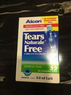 Alcon tears naturals free lubricant eye drops