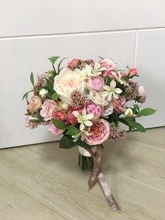 婚禮/pre-wedding 高質絲花球