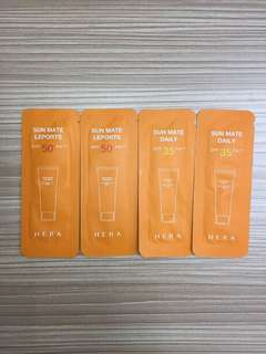 HERA Sunblock Mate Daily SPF35 and Mate Leports SPF50 Sample Size