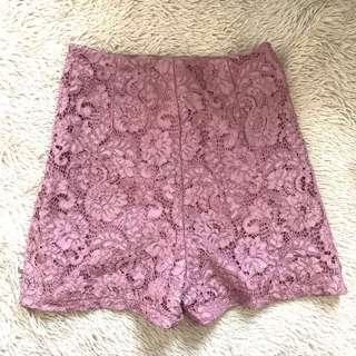 G.U. lace high waist shorts