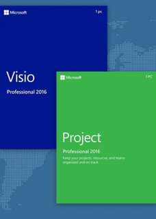 MS Visio + Project 2016 Professional Lifetime Subscription