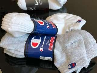 [全新] Champion 襪 白襪 灰襪 短襪 運動 船襪 NIKE