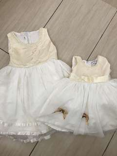 4yo & 1yo party dress (dijual terpisah)