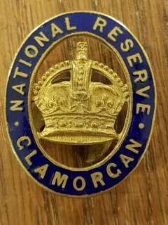 Genuine and Rare WW2 British Army National Reserve Clamorgan badge