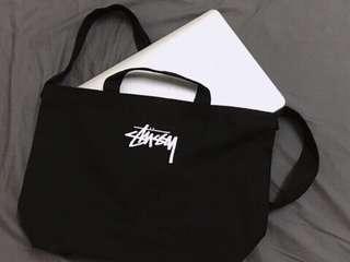[全新] 日版 Stussy 帆布袋 布袋 兩用袋 多用途袋 側孭袋 斜孭袋 手提袋 雜誌袋 two-way tote bag 2-way bag