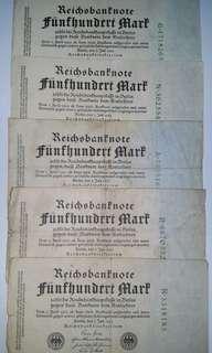 Vintage German Banknotes