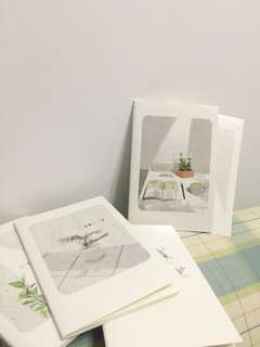 [$1 mailed] Cute Greens Notebook