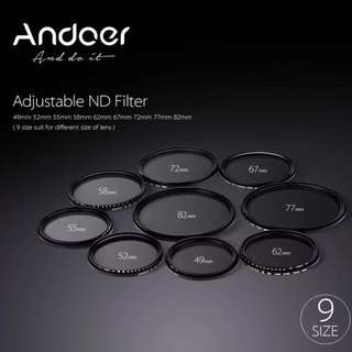 ANDOER Variable ND Filter -58mm