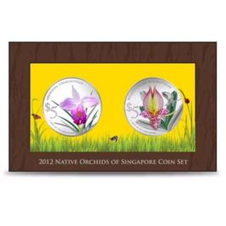 Native Orchids of Singapore 2 in 1 Silver Proof Coin Set